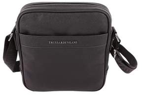 Trussardi Women's Black Leather Shoulder Bag.