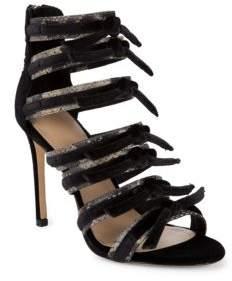 Pour La Victoire Elsie Velvet Strappy Sandals