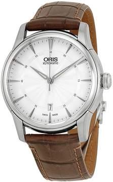Oris Artelier Date Silver Dial Brown Leather Men's Watch 733-7670-4051LS