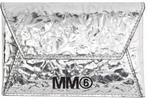 MM6 MAISON MARGIELA Silver Crinkled Card Holder