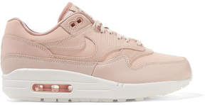Nike Air Max 1 Premium Suede-trimmed Leather Sneakers - Pastel pink