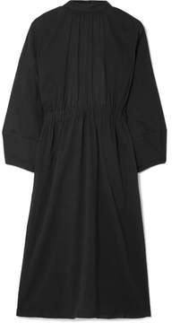 Apiece Apart Aurora Open-back Cotton-gauze Dress - Black