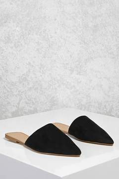 FOREVER 21 Faux Suede Pointed Flats
