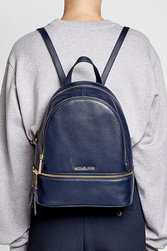 MICHAEL Michael Kors Leather Backpack - BLUE - STYLE