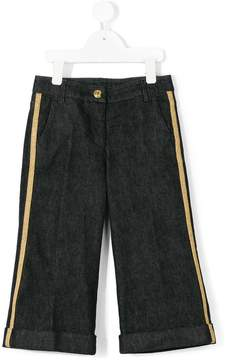 Moncler jeans with side stripe