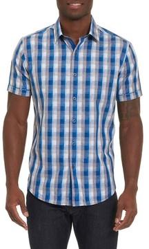Robert Graham Men's Big & Tall Greenfield Dobby Check Sport Shirt