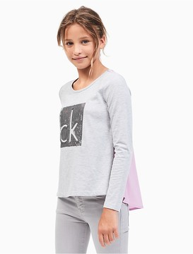 Calvin Klein Jeans Girls Glitter Logo Top