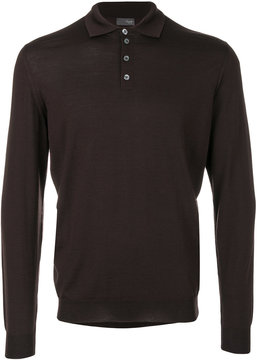 Drumohr long sleeved polo shirt