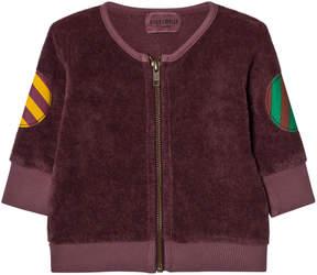 Bobo Choses Brown Octopus Print Baby Zip Sweatshirt