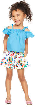 Milly MINIS FOLKLORIC PRINT PLEATED SHORT