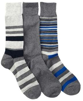 Cole Haan Town Stripe Crew Socks - Pack of 3