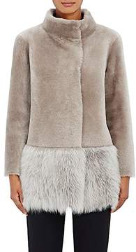 Barneys New York Women's Lamb Shearling Coat