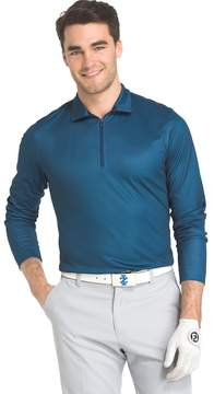 Izod Men's Swingflex Athletic-Fit Houndstooth Performance Golf Quarter-Zip Pullover