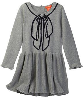 Joe Fresh Trompe L'O Bow Print Sweater Dress (Toddler & Little Girls)