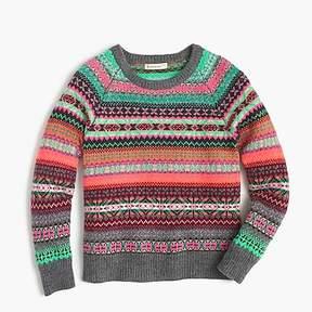 J.Crew Girls' Fair Isle popover sweater