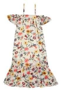 Imoga Toddler's, Little Girl's& Girl's Cold-Shoulder Floral Dress