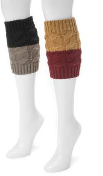 Muk Luks 2-pk. Women's Reversible Boot Toppers