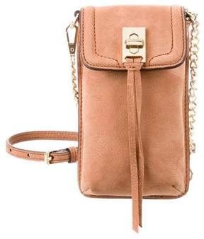 Rebecca Minkoff Nubuck Crossbody Bag - BROWN - STYLE