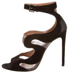 Alaia PVC-Accented Cutout Sandals
