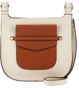 Neiman Marcus Lake Como Two-Tone Saddle Bag