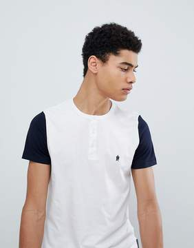 French Connection Henley Contrast Sleeve T-Shirt