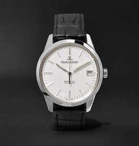 Jaeger-LeCoultre Geophysic True Second Stainless Steel And Alligator Watch