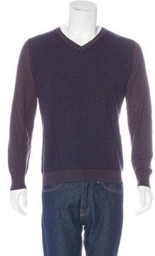 Malo Houndstooth Wool Sweater