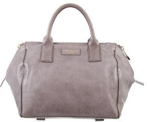 Halston Embossed Handle Bag
