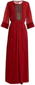 Velvet by Graham & Spencer Lyla bead-embellished sheer dress