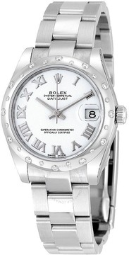 Rolex Oyster Perpetual Datejust 31 white Dial Stainless Steel Bracelet Automatic Ladies Watch