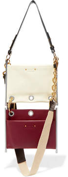 Chloé Roy Convertible Two-tone Leather Shoulder Bag - White