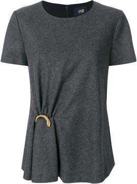 Class Roberto Cavalli snake clip detail T-shirt