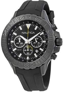 Nautica NST 1000 Chronograph Black Dial Men's Watch