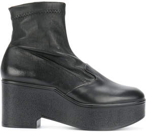 Robert Clergerie stretch platform ankle boots
