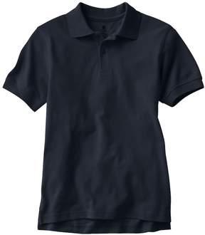Chaps Boys 8-20 Husky Solid Pique School Uniform Polo