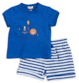 Absorba Baby Boy's Two-Piece Graphic Top and Striped Shorts Set