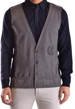 Frankie Morello Men's Blue Wool Vest.
