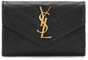 Saint Laurent Small Flap Monogram leather wallet