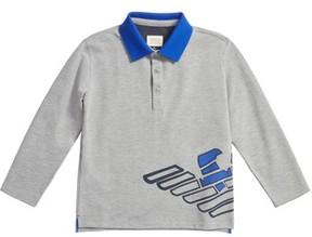 Armani Junior Boy's Logo Graphic Polo Shirt