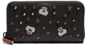 Christian Louboutin Panettone embellished zip-around leather wallet