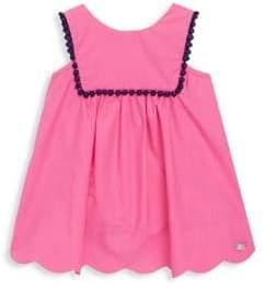 Tartine et Chocolat Baby's Square Collar Pom-Pom Sleeveless Cotton Dress