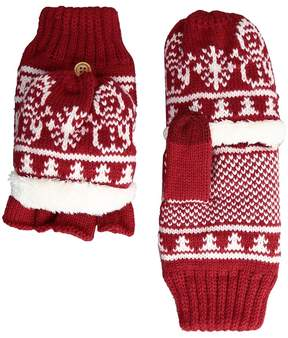 San Diego Hat Company KNG3476 Snowflake Pop Over Gloves Extreme Cold Weather Gloves