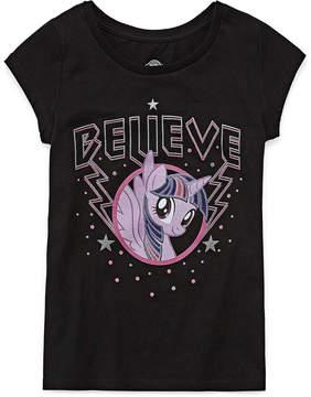 My Little Pony Short Sleeve Crew Neck Descendants T-Shirt-Big Kid Girls