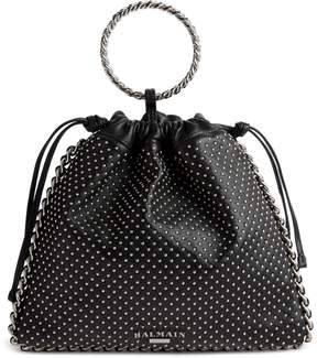Balmain Studded Leather Bracelet Backpack