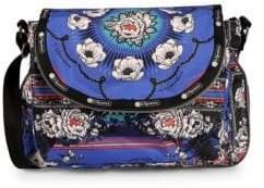 Le Sport Sac Colette Floral Canvas Messenger Bag