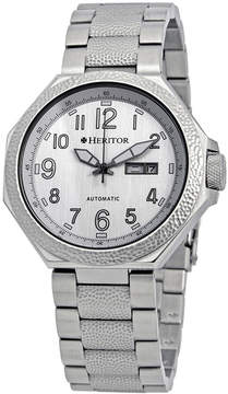 Heritor Spartacus Silver Dial Automatic Men's Watch