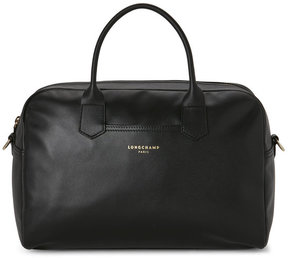 Longchamp Black Leather Satchel - BLACK - STYLE