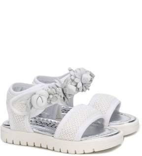 Simonetta floral embellished mesh sandals