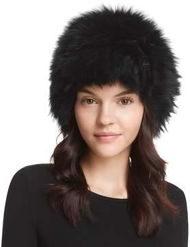 Surell Fox Fur Knit Bubble Hat