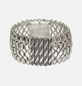 Avenue Textured Metal Stretch Bracelet
